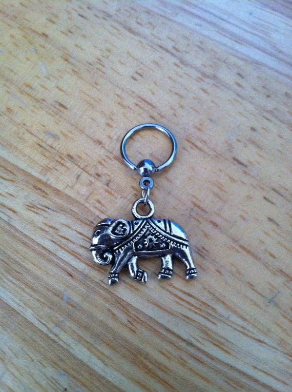 Elephant Captive Bead Ring Belly Button Ring Nipple Ring