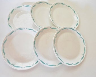 Syralite by Syracuse China Co. Restaurantware, Lot of  6 Plates, FREE SHIPPING