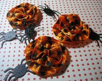 Spider Halloween Scrapbook Flower Embellishments