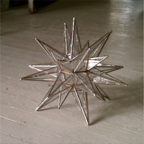 RESERVED for Laura - Stained Glass Moravian Star Tree Topper