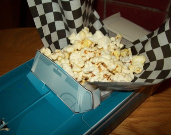 Clear Inserts for Food Box Car box,Popcorn Box Kids Birthday Party Set of 5