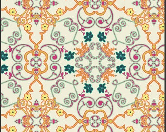 Art Gallery Fabric - Carnaby Collection - Soho Dandy Daytime - Patricia Bravo-Choose Your Cut 1/2 or Full Yard