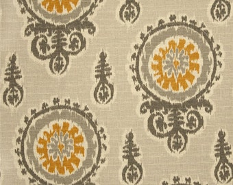 Grey, Gold and Ivory Ikat Pillow Covers Premier Prints Michelle Nova Grey Birch