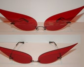 Red eye spikes Cosplay Costume Sunglasses Glasses
