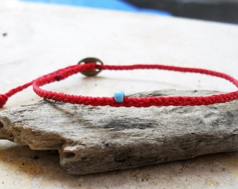 Wish bracelet, Friendship bracelet, Red string bracelet