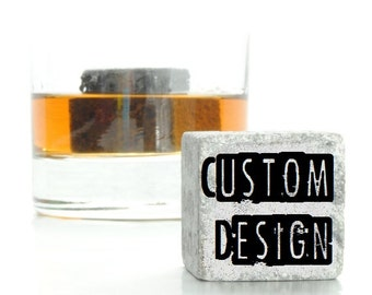Custom Engraved Personalized Whiskey Blocks - Personalized by you - Personalized mens gift  - Groomsmen Gift - Custom Whisky Stones
