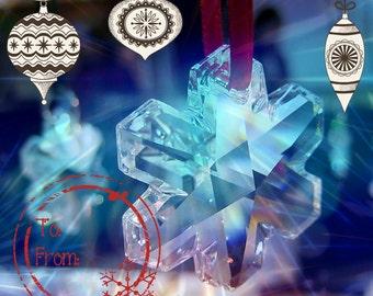 Swarovski crystal snow flake ornament, xmas ornaments, crystal sun catcher