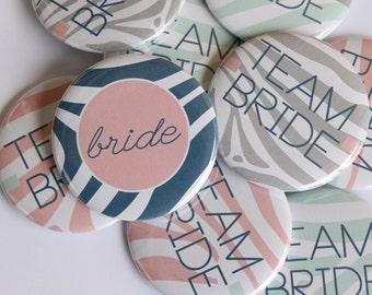 bachelorette party, bachelorette party favors, wedding party gifts bridesmaids, custom buttons, funny bachelorette, zebra wedding