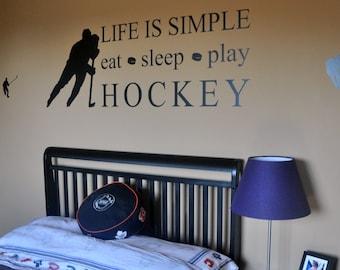 Hockey Wall Decal Etsy