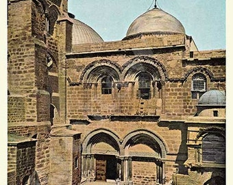 Holy Land - Church of the Holy Sepulchre - Antique illustration c1895. Full color PRINT
