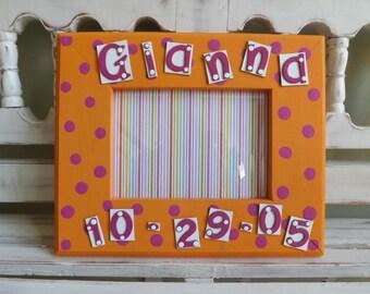 Custom Name Birthday 5x7 Picture Frame