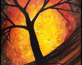 Mystic Tree - Acrylic on board, Unique Artwork  (Sold - Reserved M.)