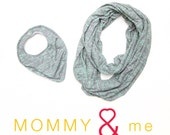Burnout Mint Scarf and Bib Set - Mint Mommy and Me ON SALE