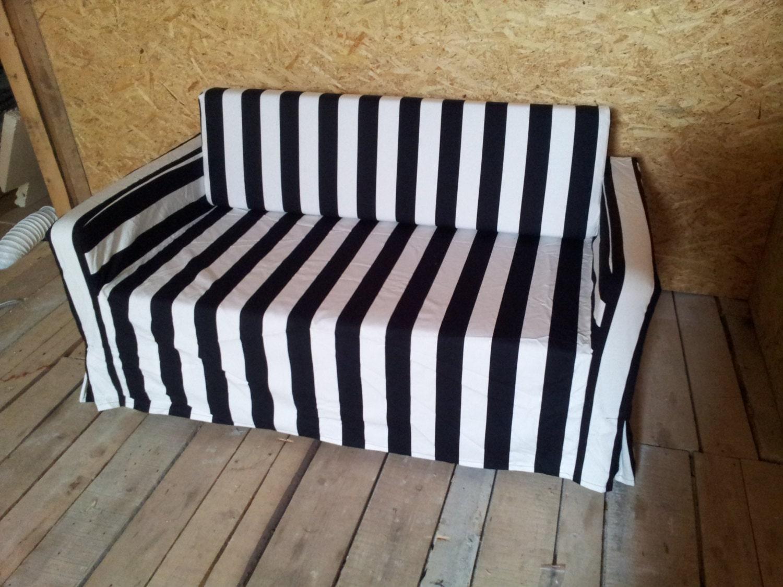 Slipcover For Solsta Sofa Bed From Ikea Nice Black Stripes
