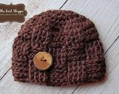 Flash Sale! READY TO SHIP! Crochet Baby Hats, Newborn, Basket Weave Hat, Baby Boy, Baby Girl, Photo Prop, Photography Prop