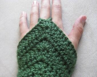 Crochet Pattern - Chevron Armwarmer Fingerless Gloves