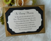 In Loving Memory Sign, Wedding Decoration, Memory Sign, Wedding, Lost Loved Ones