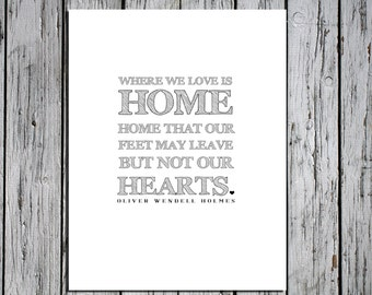 Where We Love Is Home -  Digital Download Art Print