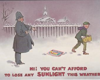 Reproduction Postcard for SunLight Soap - Vintage eighties paper ephemera 1980s