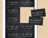 Chalkboard Escort Cards (3.5x2): Text-Editable, Printable on Avery 8371 Template, Instant Download