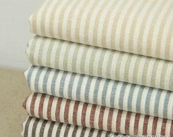 Yarn-dyed, Plain Cotton Linen Fabric for craft, 4mm Stripe linen fabric, diy fabric,garment accessory 1/2 yard (QT218)