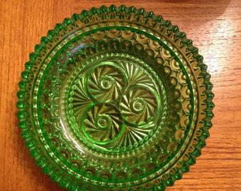 Vintage Green Swirl Pattern Candy/Jewelry Dish