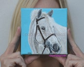 Custom Horse Portrait Custom Pet Portrait Original Painting on Canvas Memorial Horse painting pop art pet portraits
