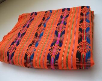 "Mexican Fabric Orange 31"" width by one yard."