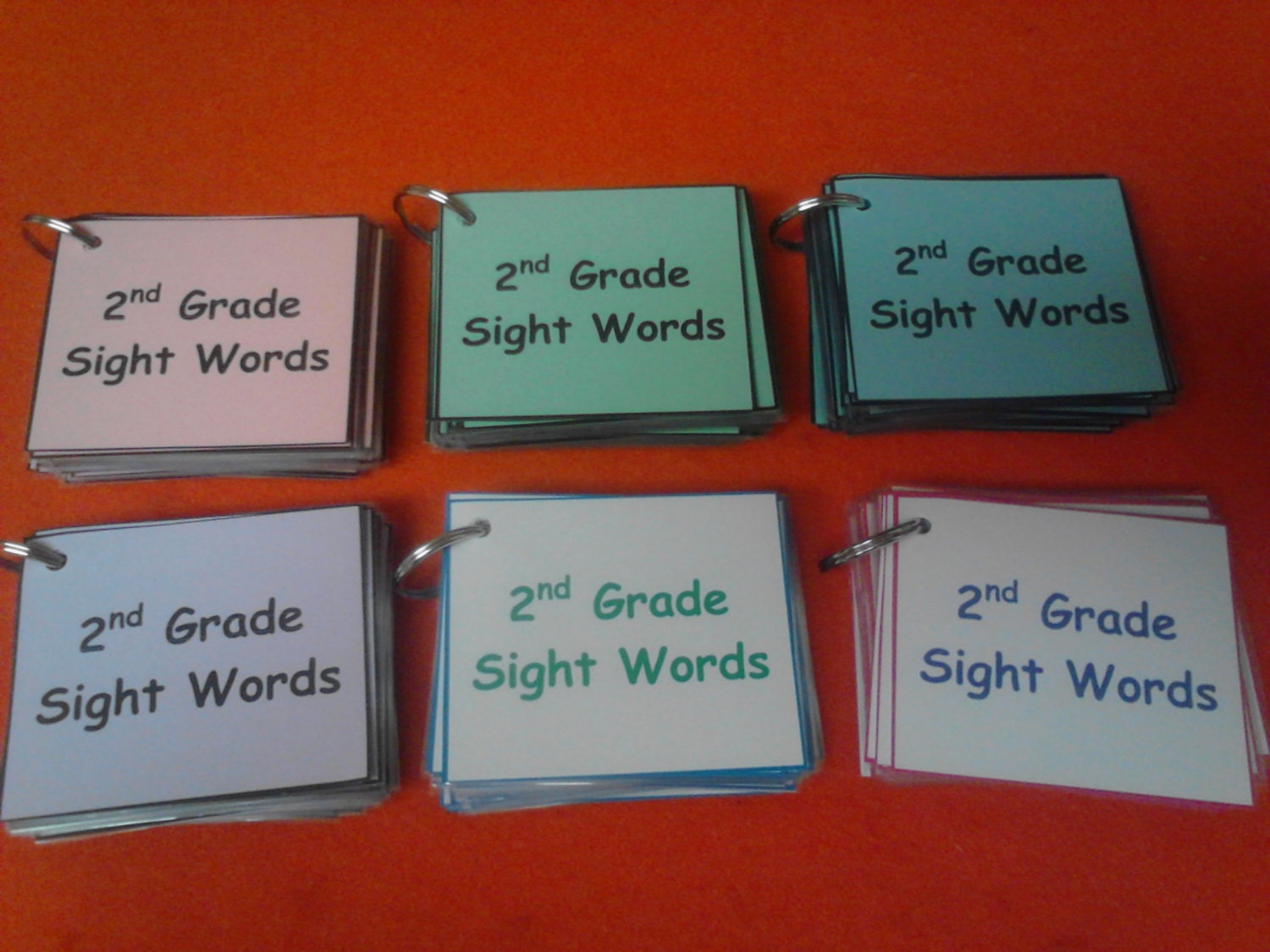second grade sight words 2nd grade dolch words laminated