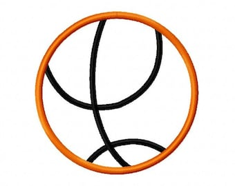 Basketball Applique Embroidery Design 3x3 4x4 5x5 6x6 INSTANT DOWNLOAD