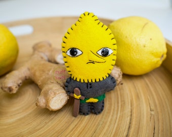 Felt Lemongrab - Pocket Plush toy
