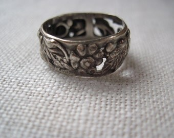 Floral Sterling Band by Coro