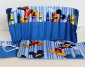 Mickey Mouse Crayon Roll Up