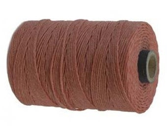 10 Yards - Salmon - 4 Ply Waxed Linen Cord