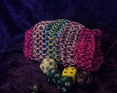 Discounted - Pinkie Pie inspired Chainmaille Dice Bag