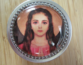 Item # 44 ~ St Philomena rosary case 2 image options to choose from Confirmation gift patron saint- powerful with God, patroness of youth