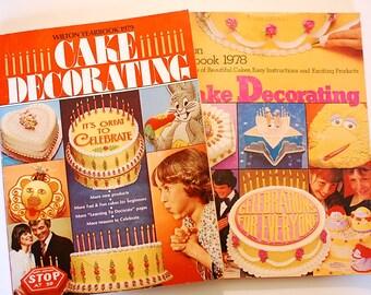 Wilton Yearbook 1978 Cake Decorating and 1979 Yearbook vintage cookbook magazine baking