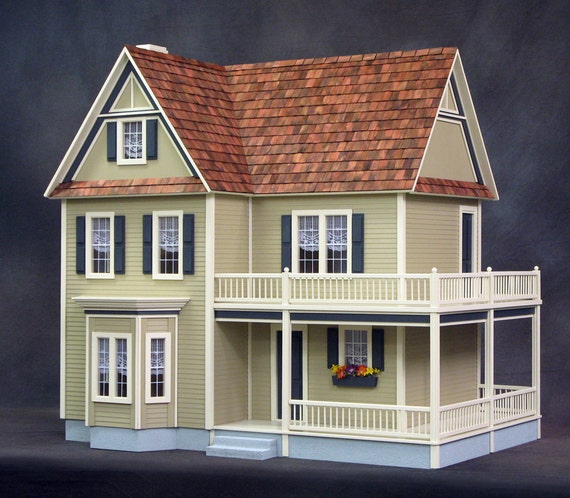 Scale One Inch, Lillian, Wooden Dollhouse Kit, Made In USA, 1:12 Scale