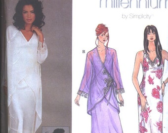 Sewing pattern Simplicity 8912  - Misses Millennium FANCY Lingerie Robe and Nightgown, sz 4 - 10, c1999