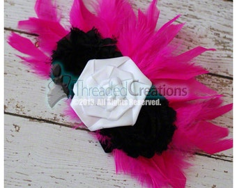 Feather Hairpiece - Hot Pink Feather Hairpiece