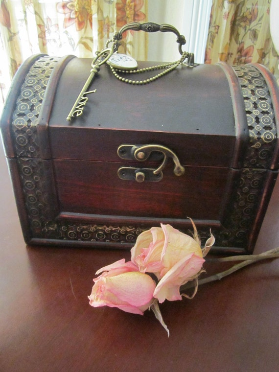 Old World Charm Wedding Guest Wish Box Alternative to Guestbook Vintage Style Customize