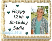 Ross Lynch Austin Moon Edible icing sheet photo birthday cake transfer decal decorations frosting top 3