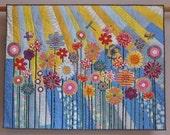 Whimsical Garden 5 wall quilt