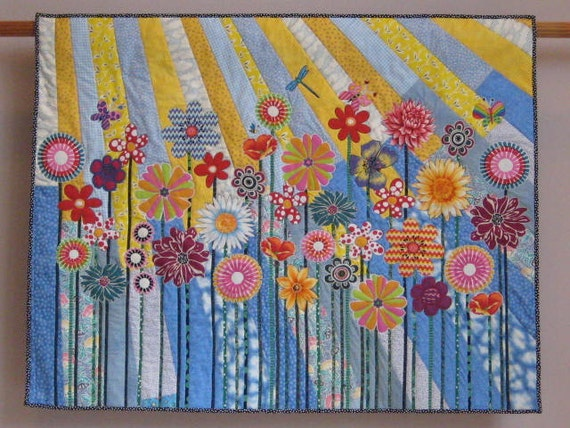 Whimsical Garden 5 Wall Quilt By Tinacurran On Etsy