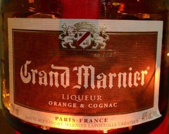 Lighted Grand Marnier Bottle