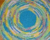 "Round ""Sunshine"" Crochet Rag Rug 30"""