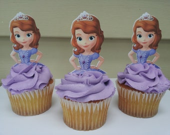 12 Sophia the first cupcake toppers