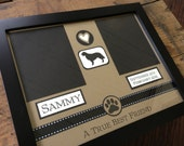 In Loving Memory --- Custom Order Dog Frame for Sarah Newcomb