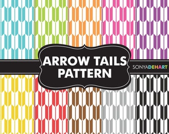 60% OFF SALE Arrow Digital Paper, Arrow Papers, Arrow Patterns, Arrow Tails, Digital Paper, Scrapbook Pages, Scrapbook Papers