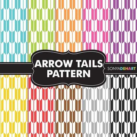 Clipart SALE Arrow Digital Paper, Arrow Papers, Arrow Patterns, Arrow Tails, Digital Paper, Scrapbook Pages, Scrapbook Papers